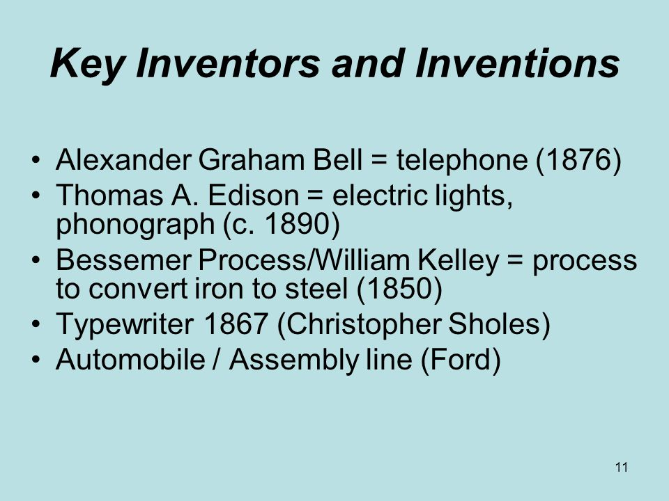 Key Inventors and Inventions