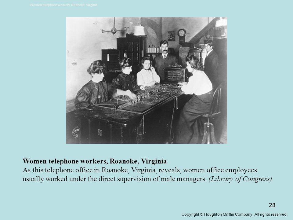 Women telephone workers, Roanoke, Virginia
