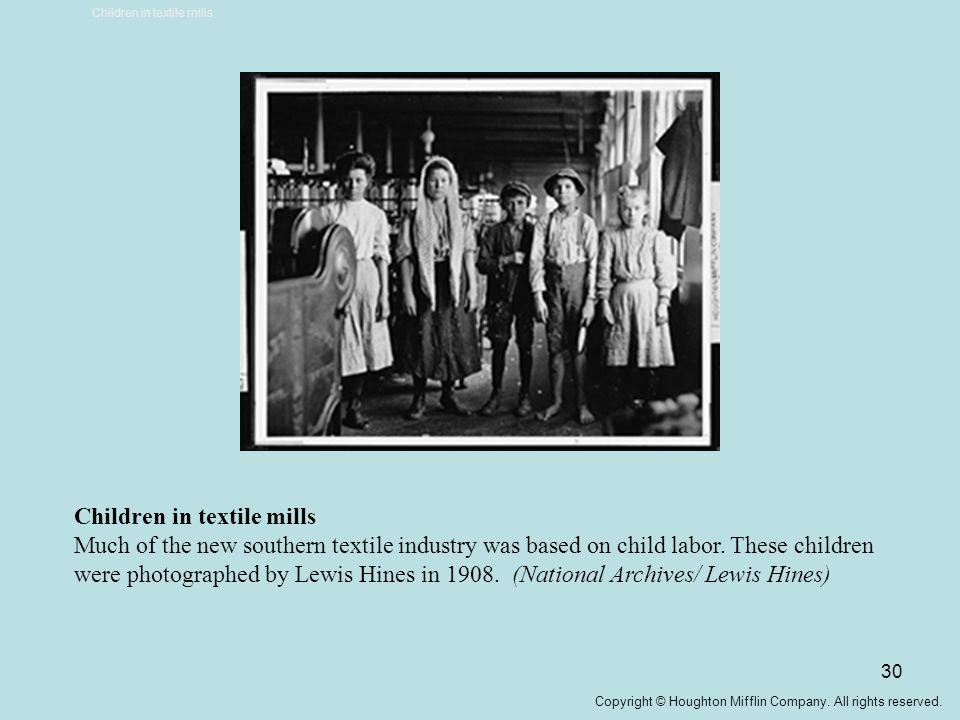 Children in textile mills