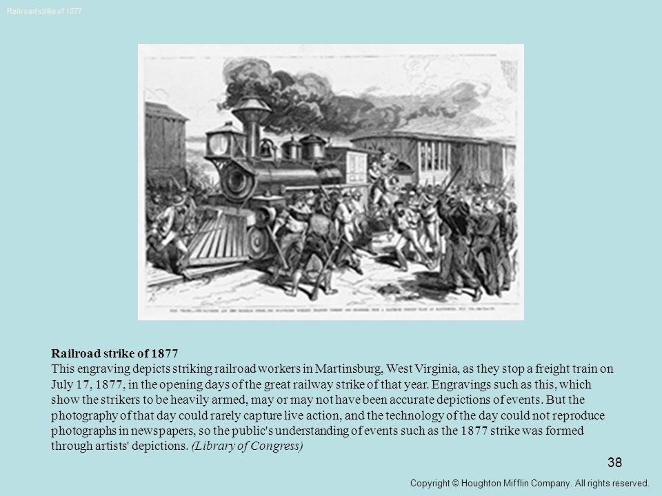Railroad strike of 1877 Railroad strike of 1877.