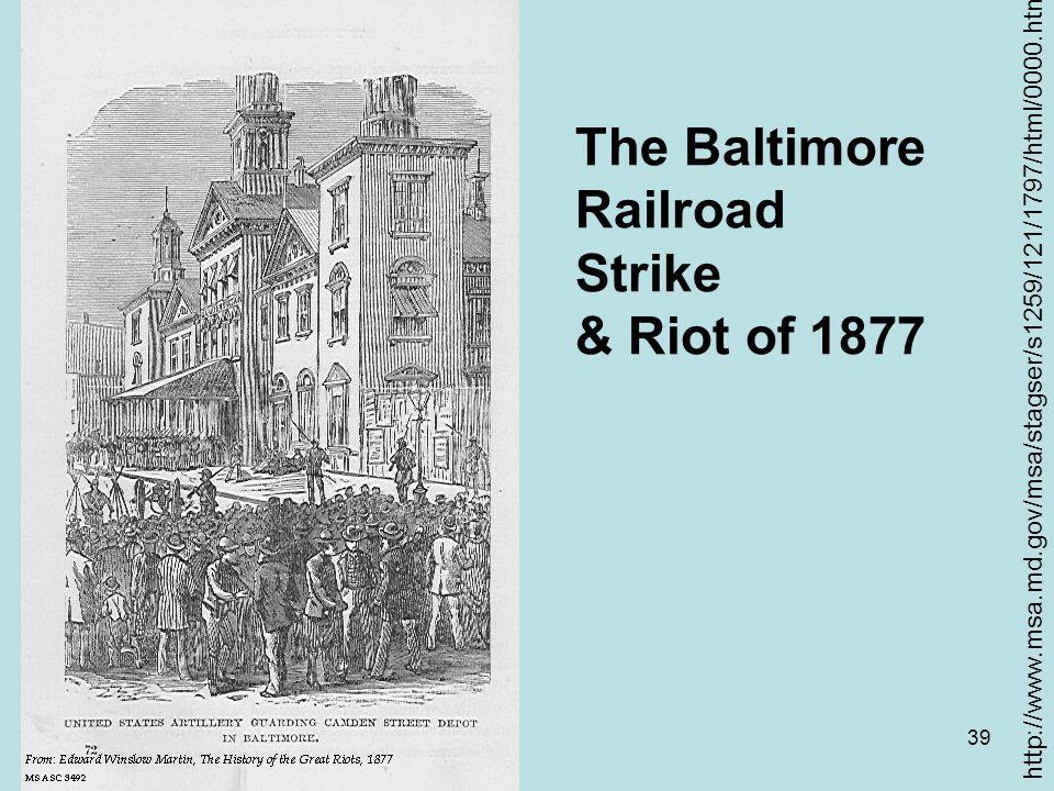 The Baltimore Railroad Strike & Riot of 1877