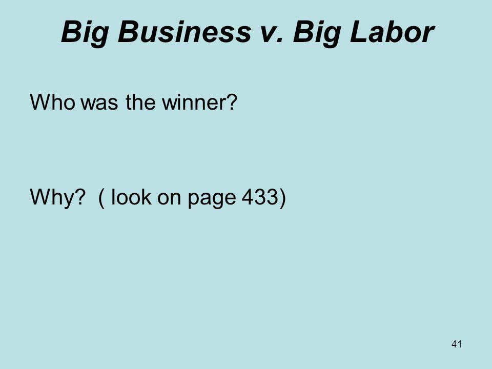 Big Business v. Big Labor