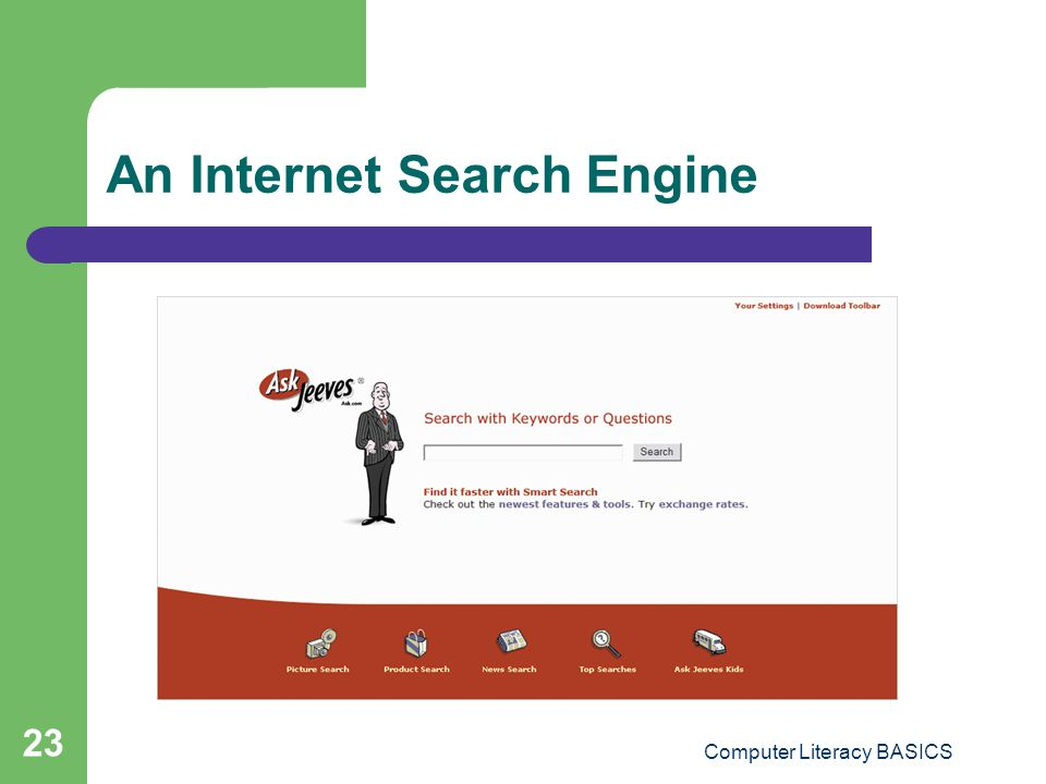 An Internet Search Engine