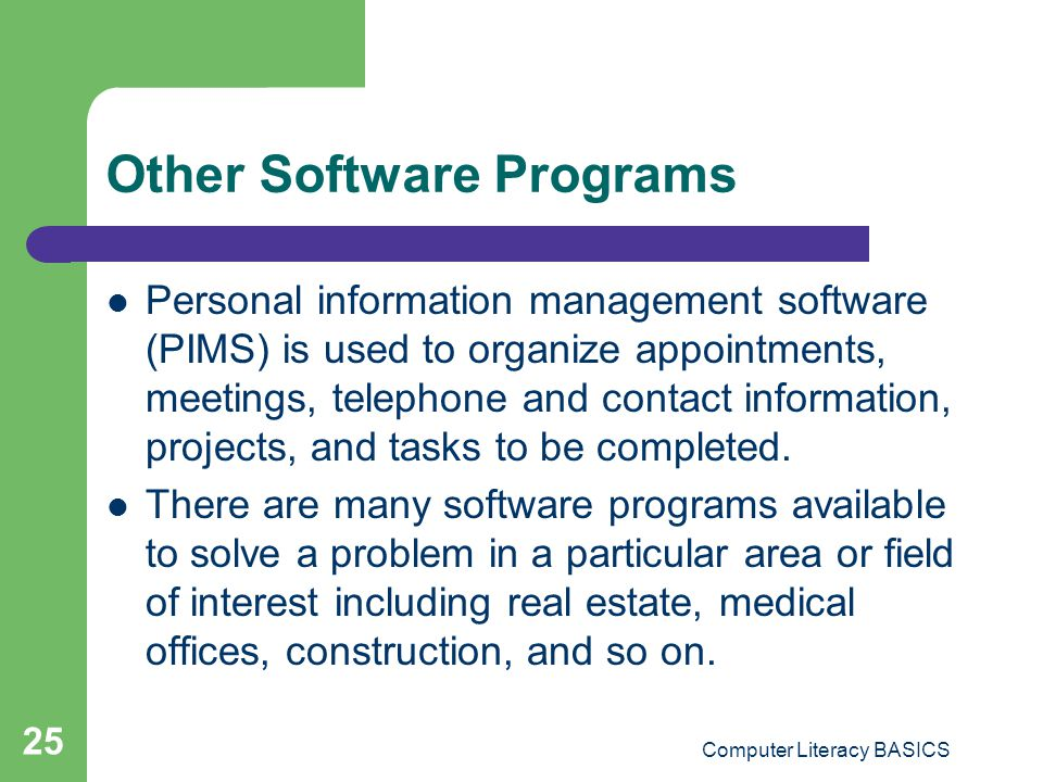 Other Software Programs