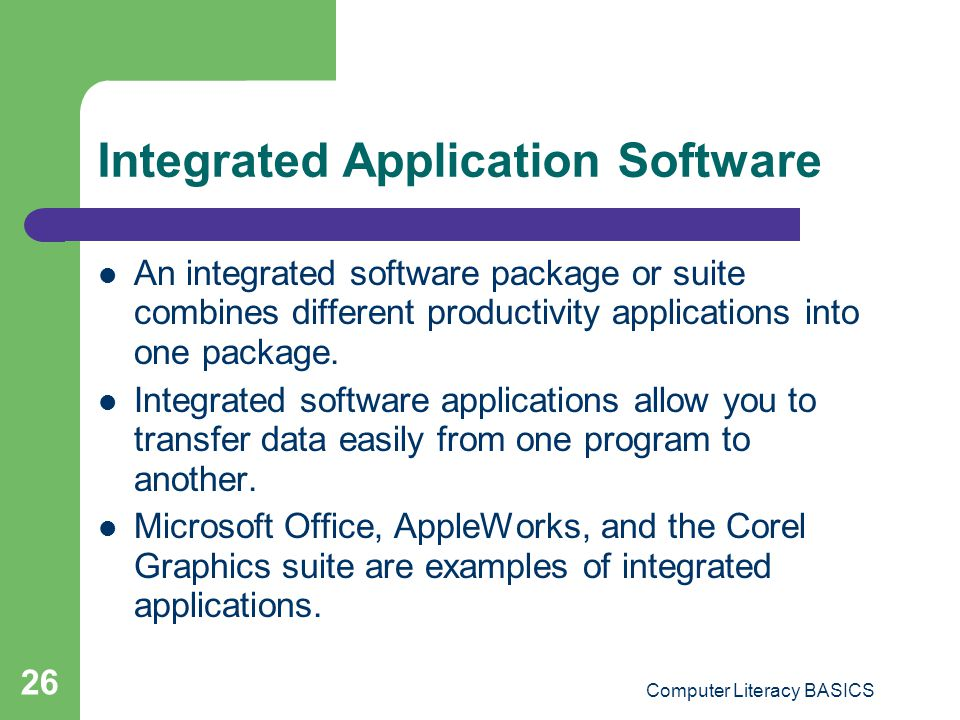 Integrated Application Software