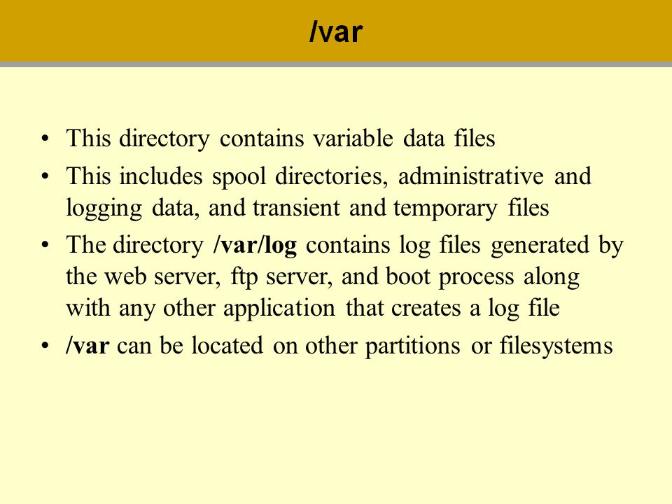This directory contains variable data files