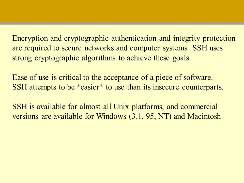 Encryption and cryptographic authentication and integrity protection