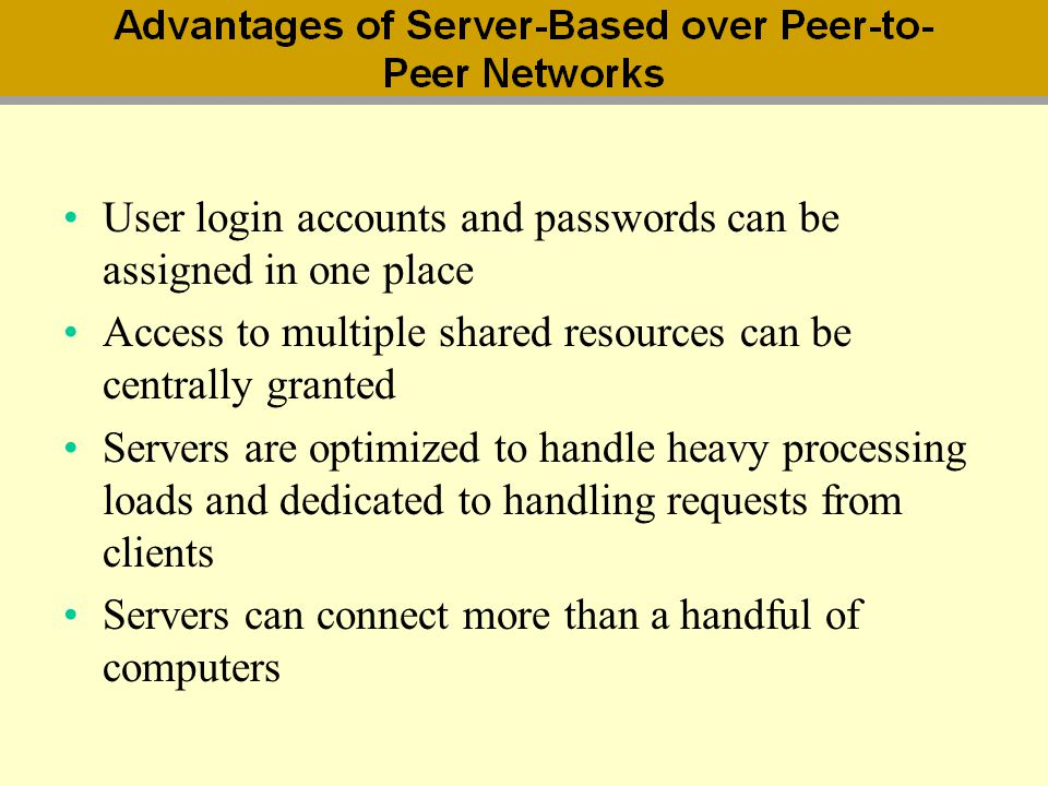 User login accounts and passwords can be assigned in one place