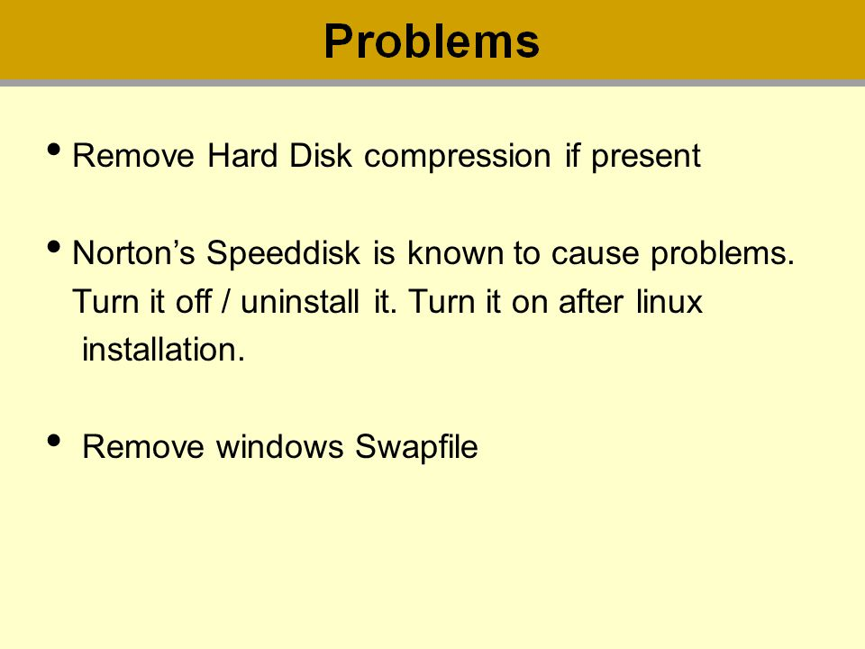 Remove Hard Disk compression if present