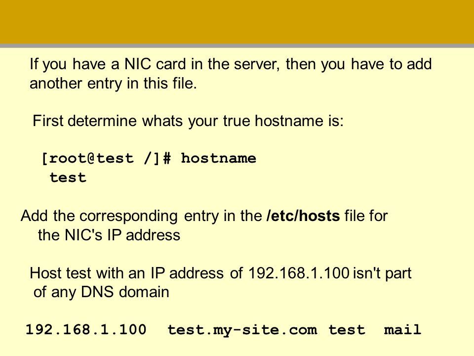 If you have a NIC card in the server, then you have to add