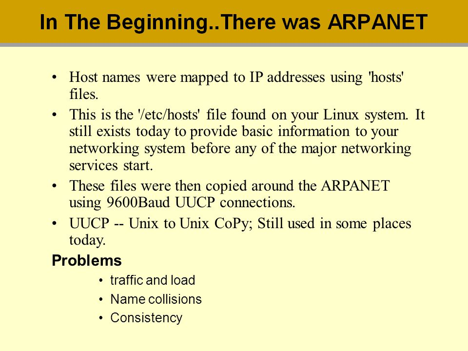 Host names were mapped to IP addresses using hosts files.