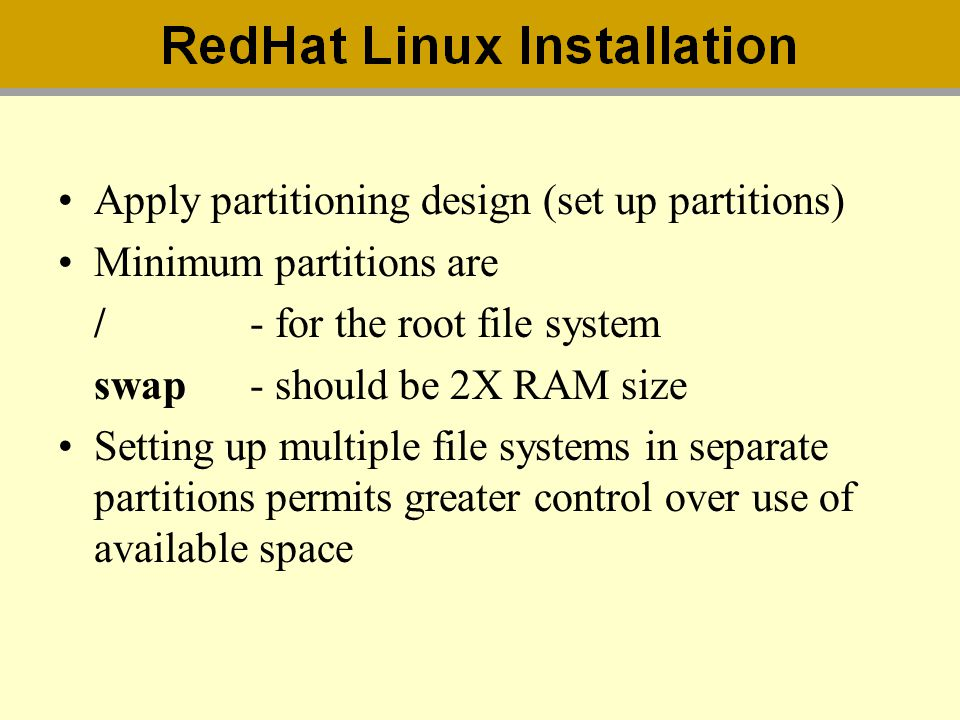 minimum partition in linux