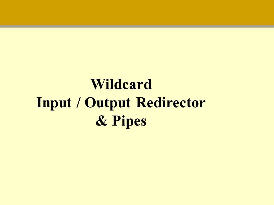 Input / Output Redirector