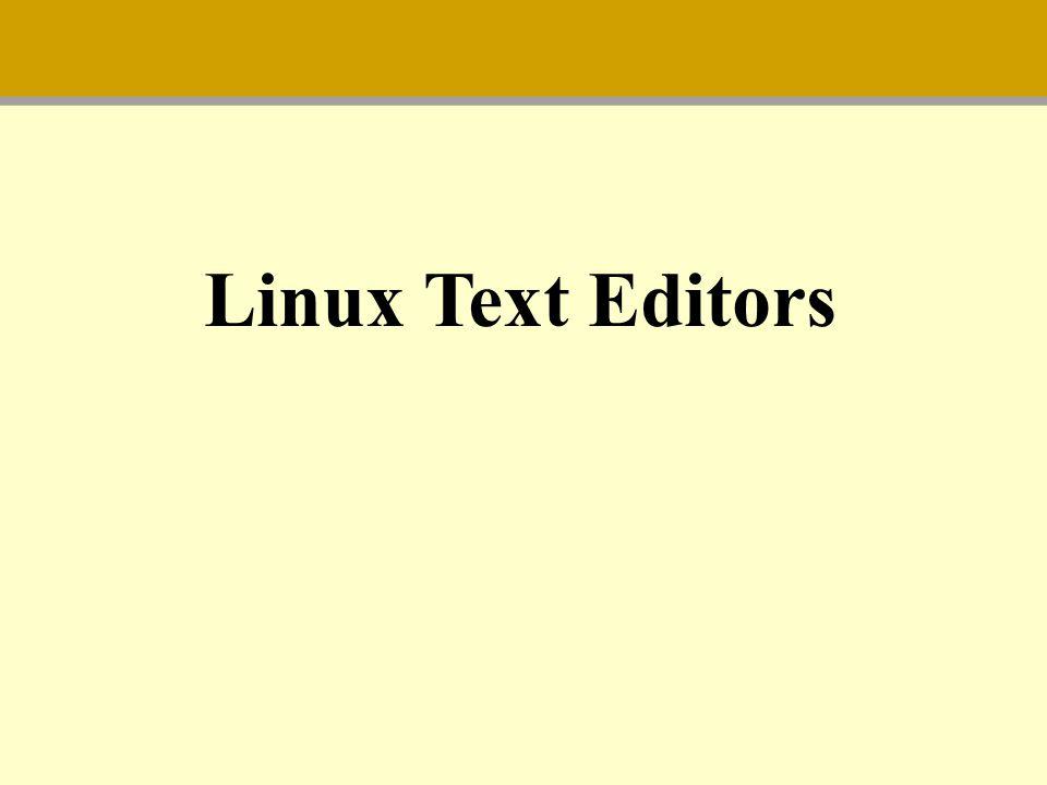 Linux Text Editors
