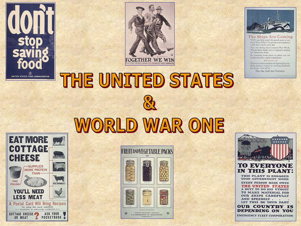 THE UNITED STATES & WORLD WAR ONE