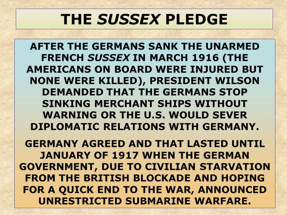 THE SUSSEX PLEDGE