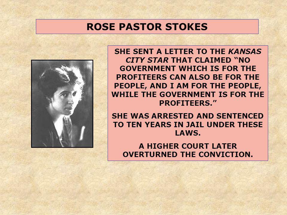 ROSE PASTOR STOKES
