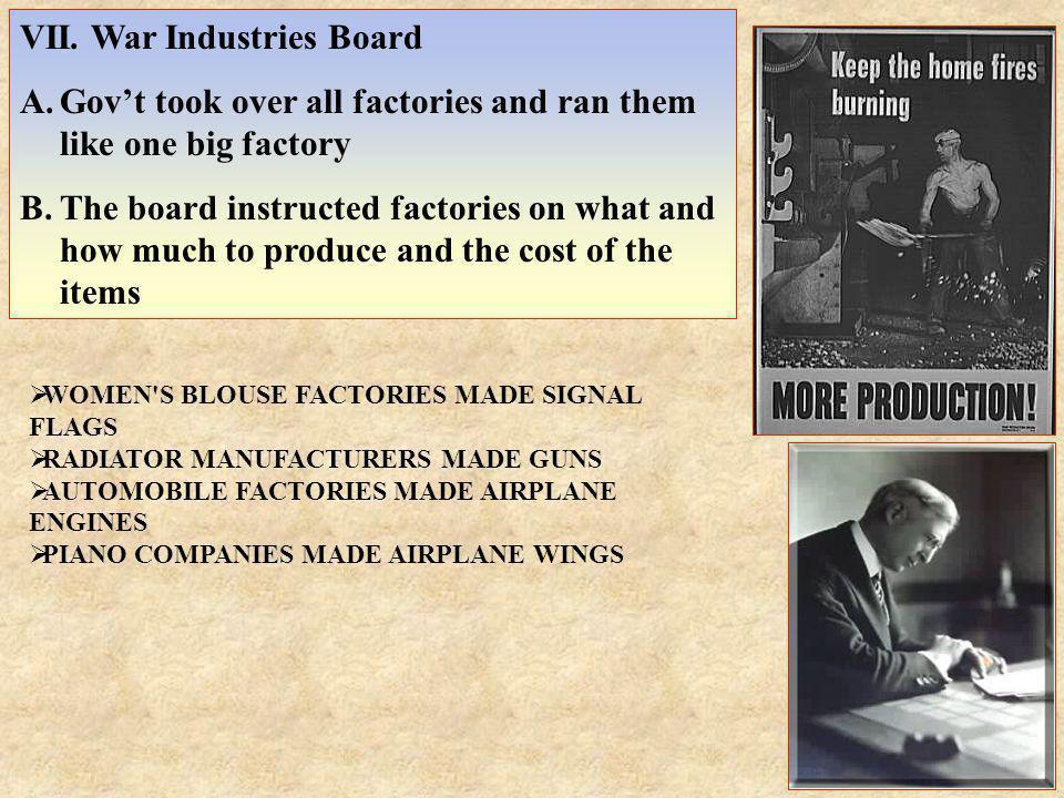 VII. War Industries Board