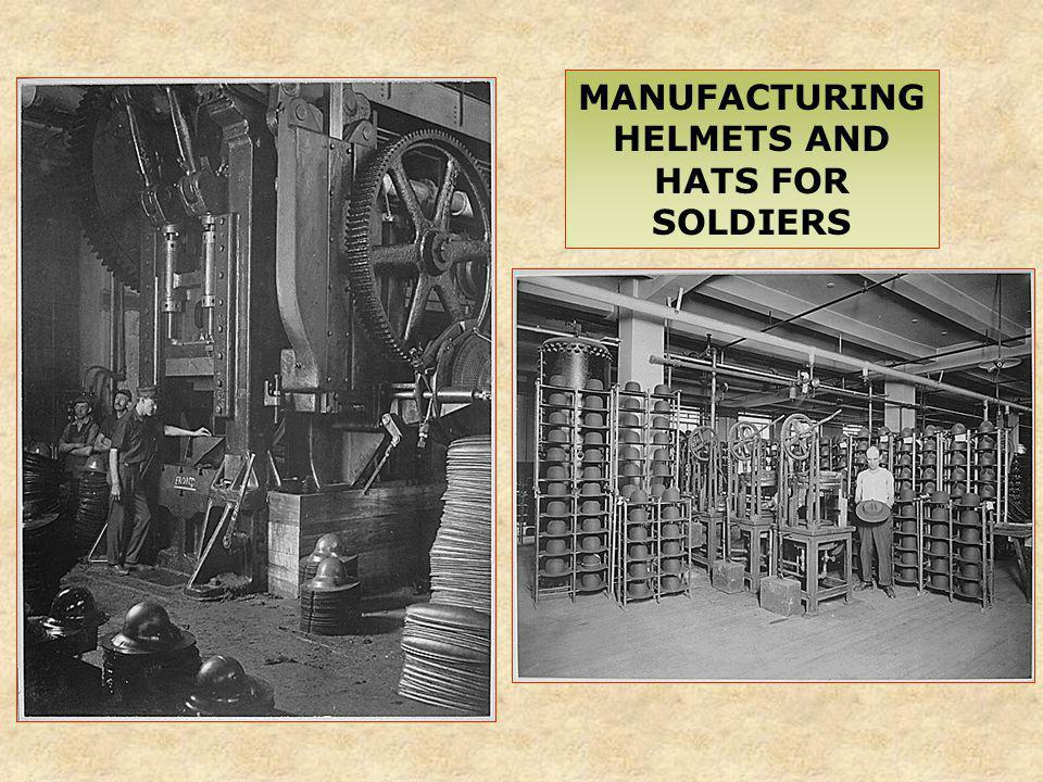 MANUFACTURING HELMETS AND HATS FOR SOLDIERS