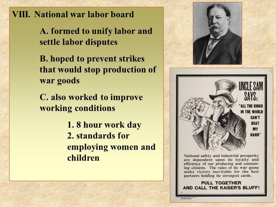 VIII. National war labor board