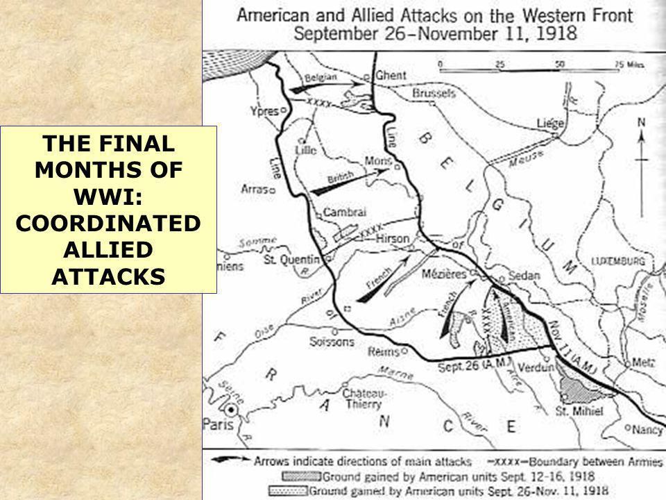 THE FINAL MONTHS OF WWI: COORDINATED ALLIED ATTACKS