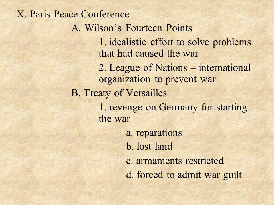 X. Paris Peace Conference