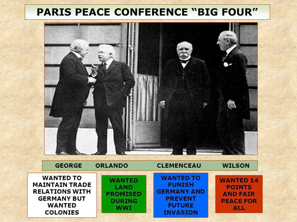 PARIS PEACE CONFERENCE BIG FOUR