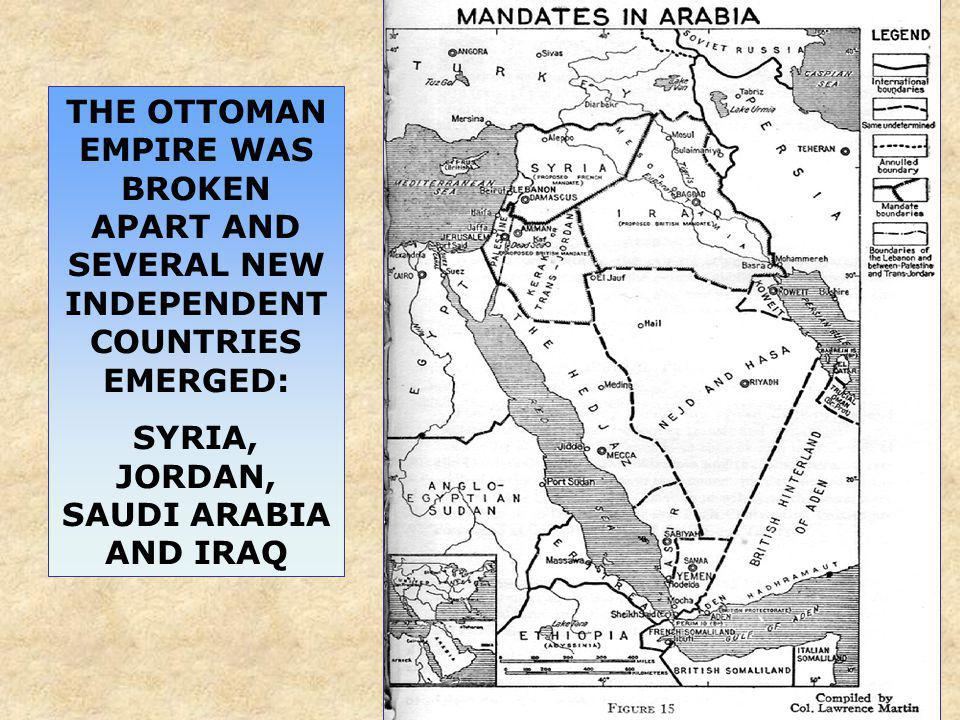 SYRIA, JORDAN, SAUDI ARABIA AND IRAQ
