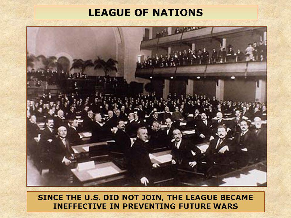 LEAGUE OF NATIONS SINCE THE U.S.