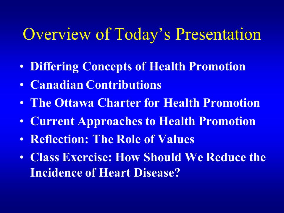 Overview of Today's Presentation