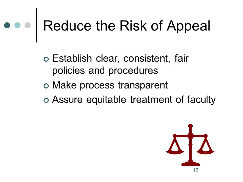 Reduce the Risk of Appeal