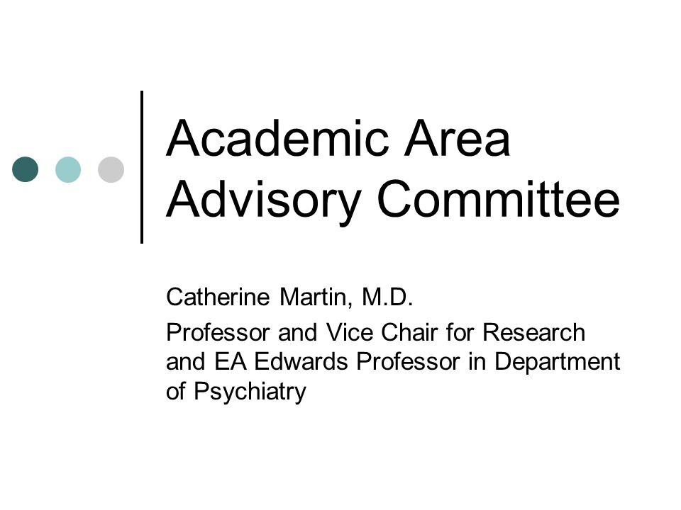 Academic Area Advisory Committee