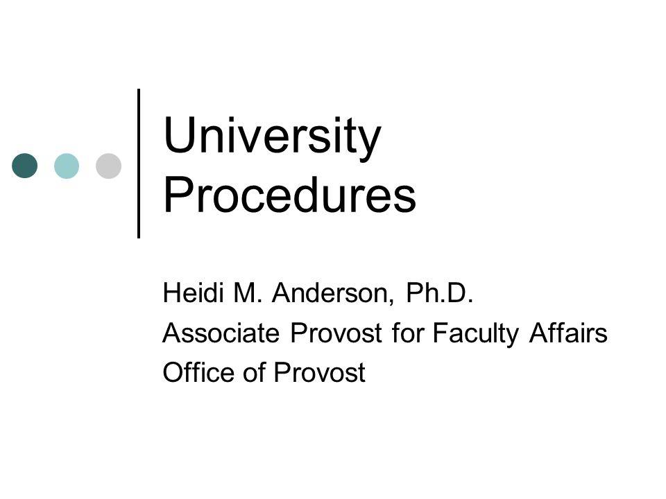 University Procedures