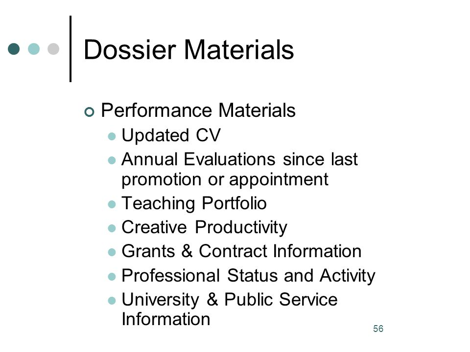 Dossier Materials Performance Materials Updated CV