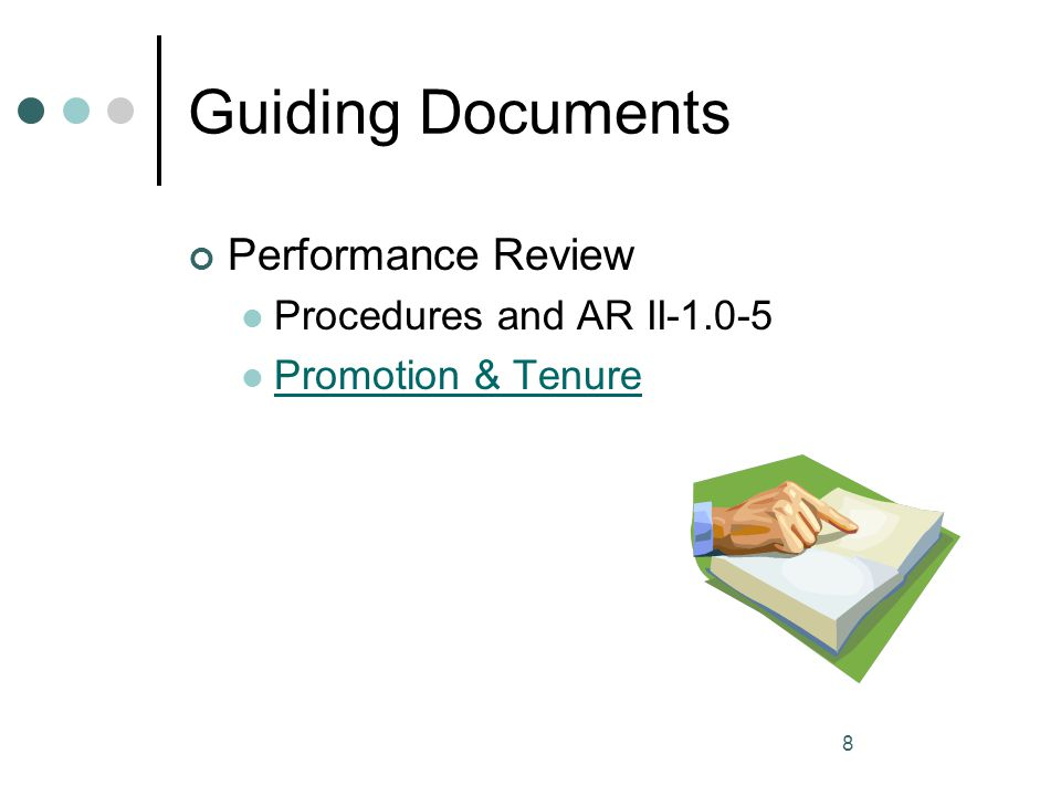 Guiding Documents Performance Review Procedures and AR II-1.0-5