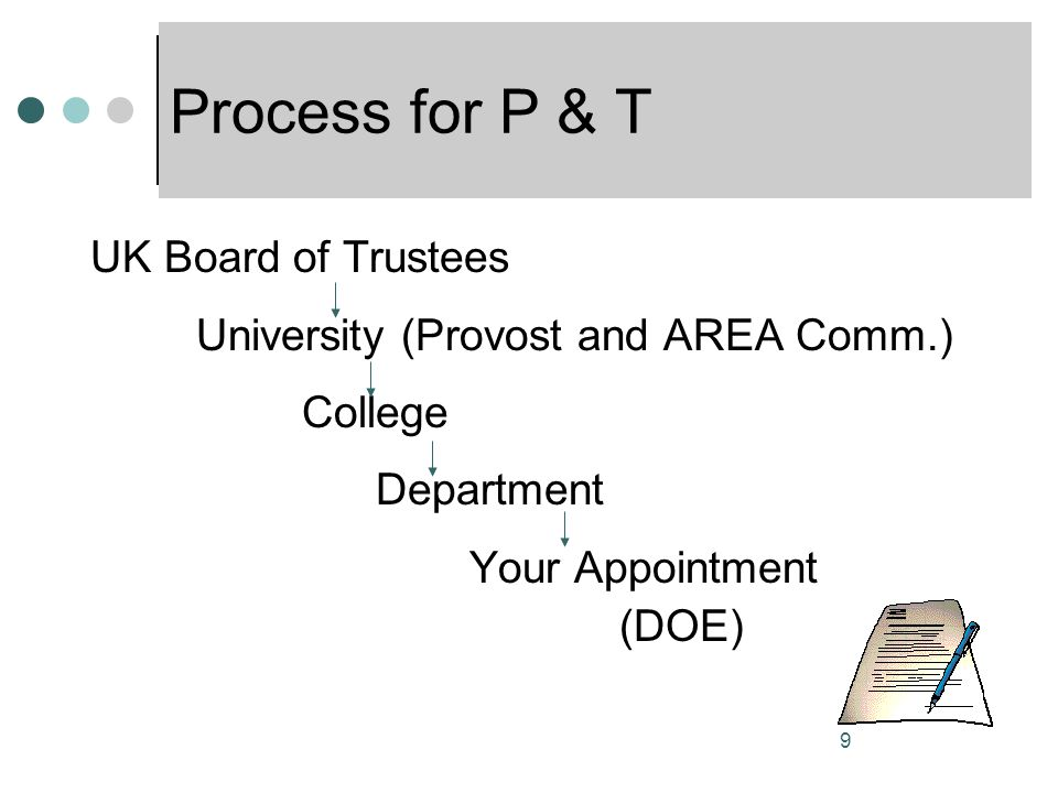 Process for P & T UK Board of Trustees