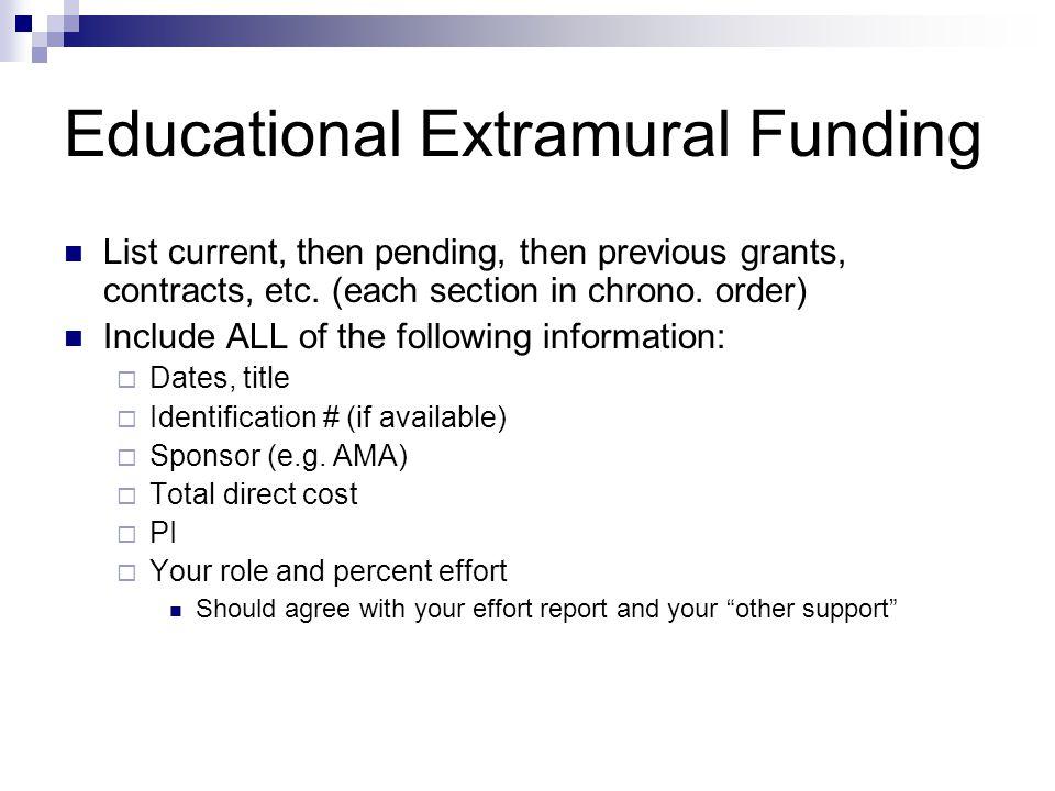 Educational Extramural Funding