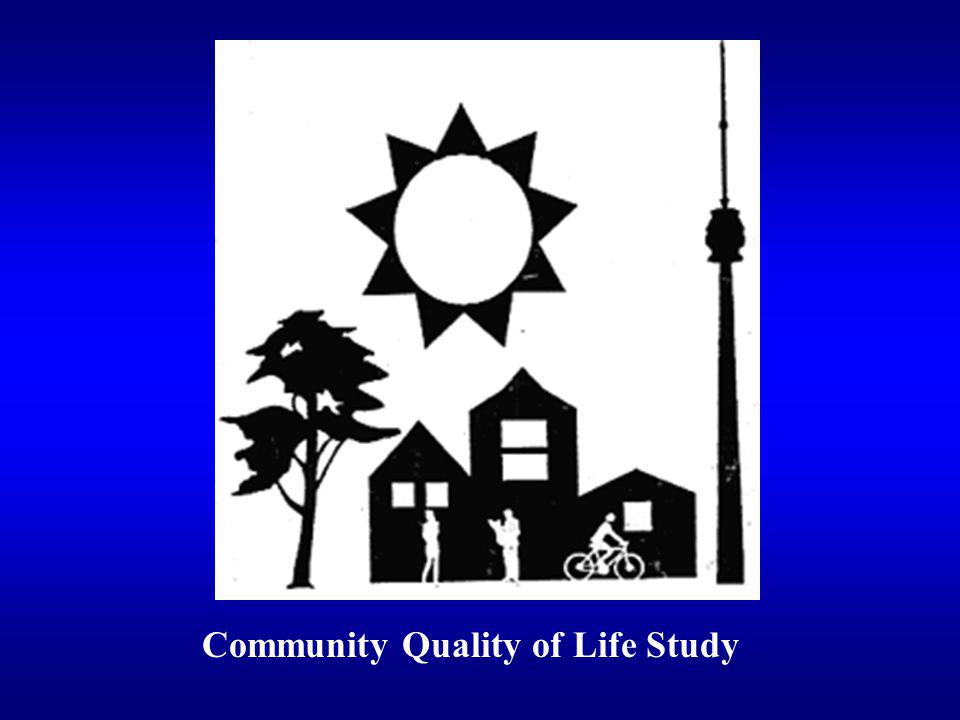 Community Quality of Life Study