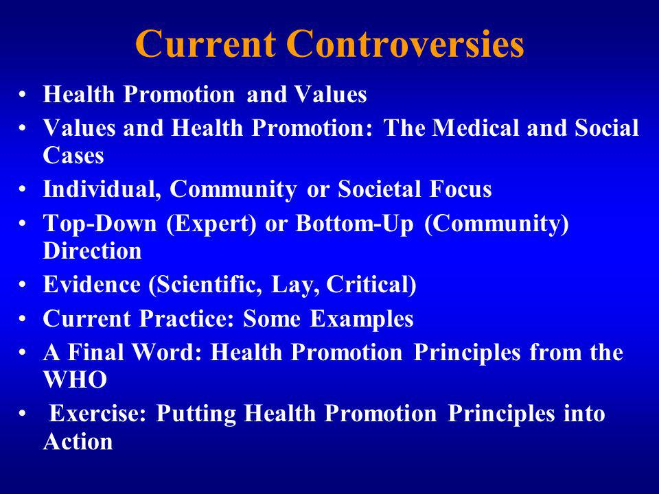 Current Controversies
