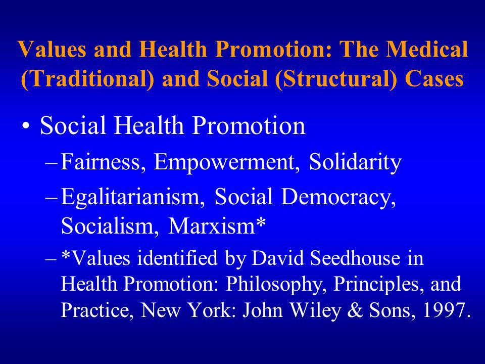 Social Health Promotion
