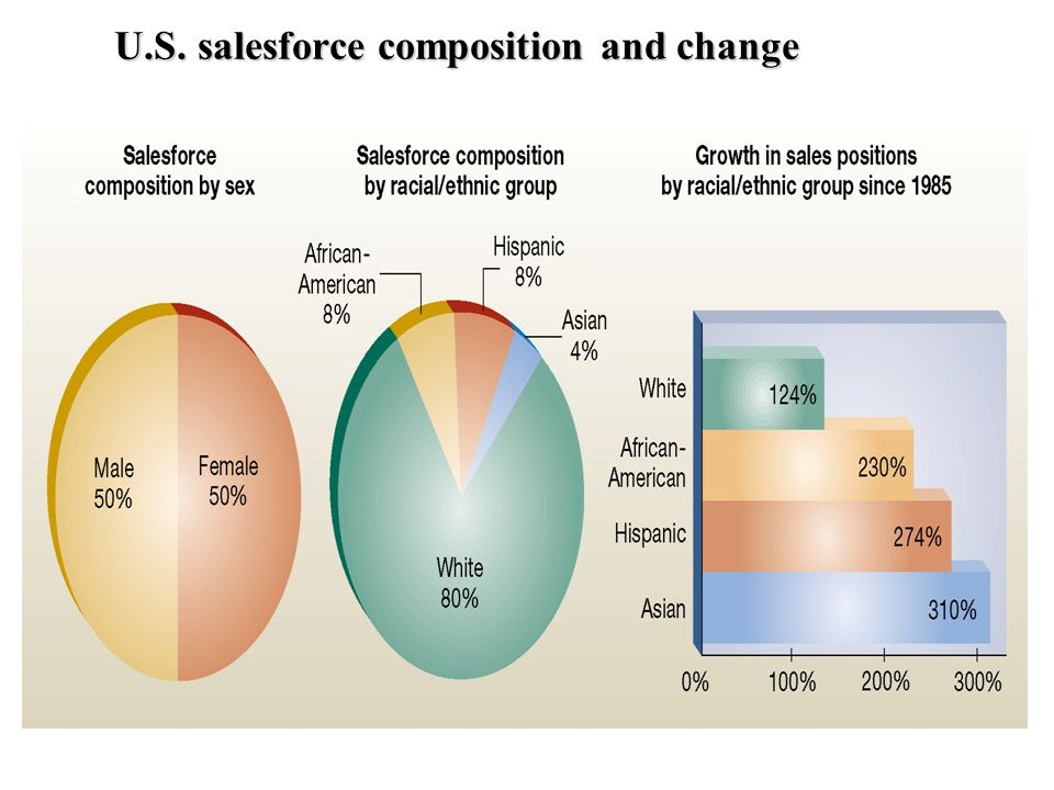 U.S. salesforce composition and change