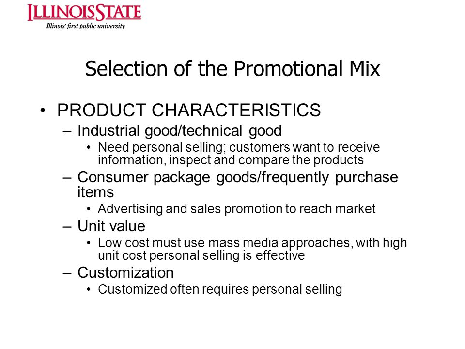 Selection of the Promotional Mix