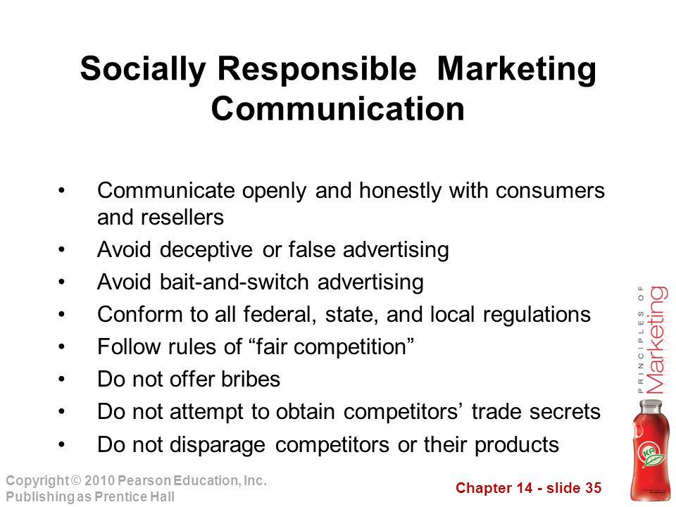 Socially Responsible Marketing Communication