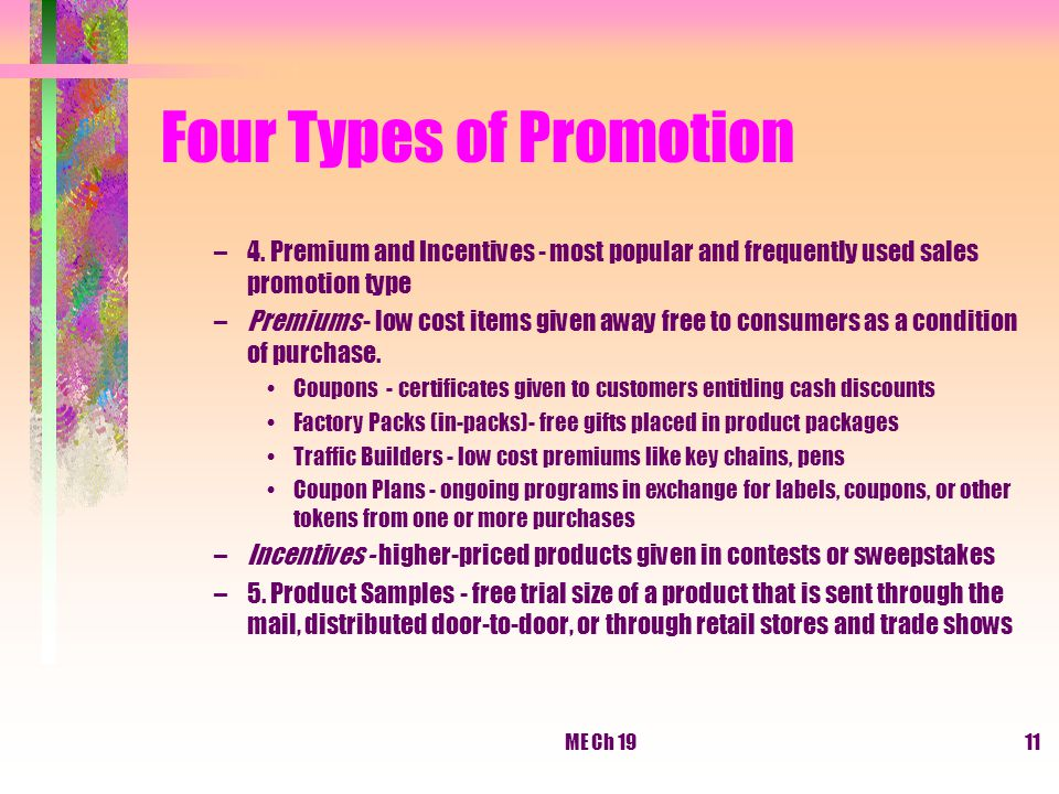 Four Types of Promotion