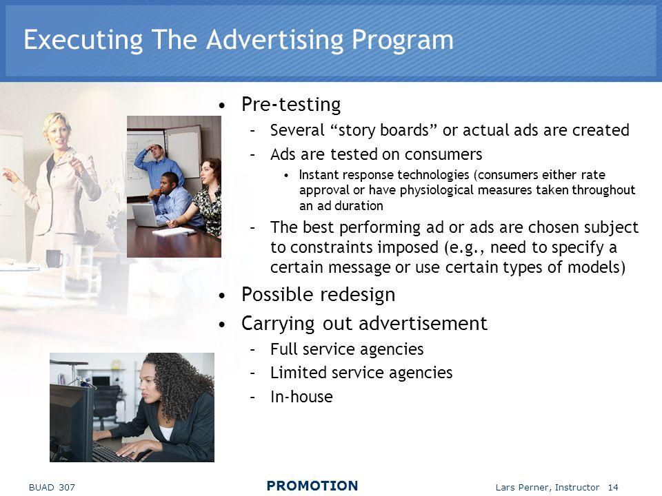 Executing The Advertising Program