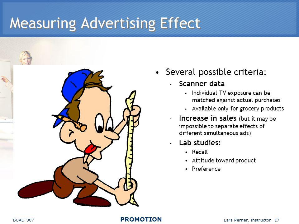 Measuring Advertising Effect