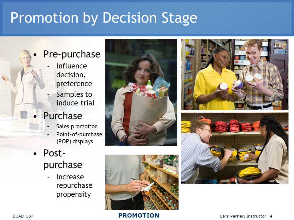 Promotion by Decision Stage