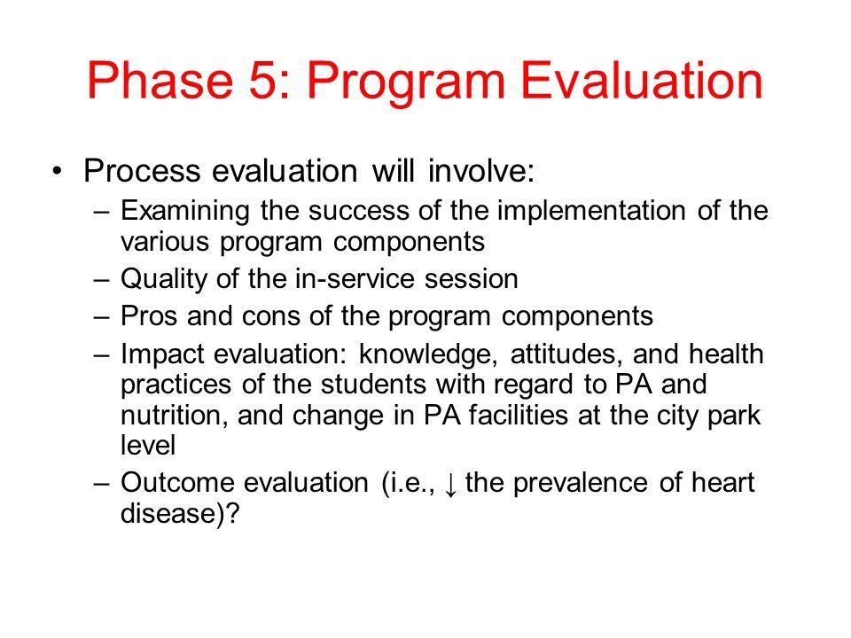 Phase 5: Program Evaluation