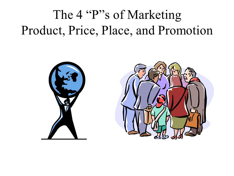 The 4 P s of Marketing Product, Price, Place, and Promotion