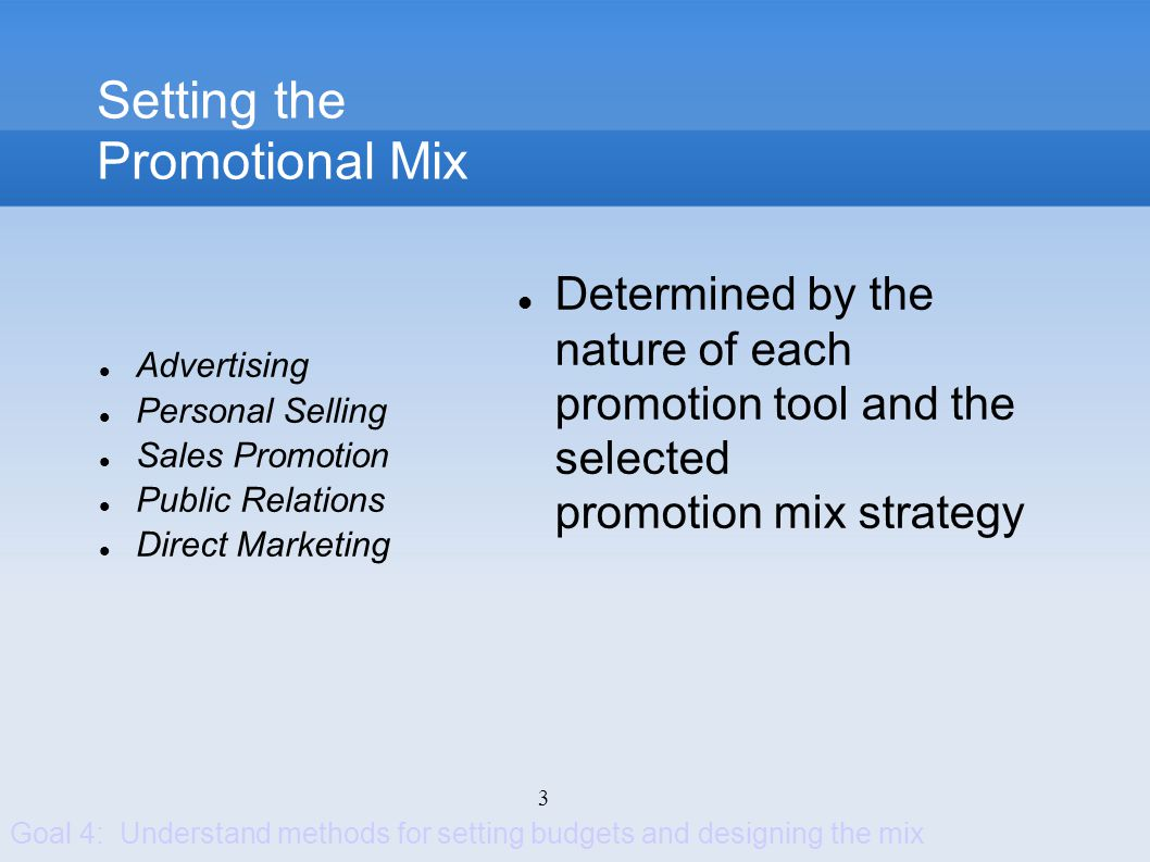 Setting the Promotional Mix